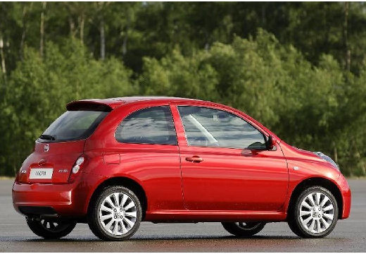 NISSAN Micra VI hatchback czerwony jasny tylny prawy