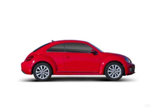 VOLKSWAGEN New Beetle Beetle I coupe czerwony jasny boczny prawy