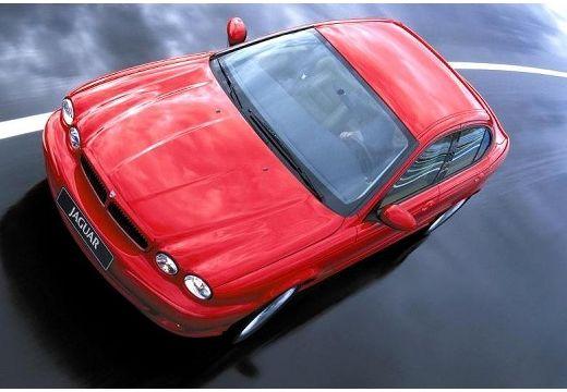 JAGUAR X-Type I sedan czerwony jasny górny przedni