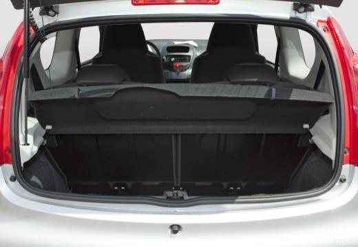 PEUGEOT 107 hatchback przestrzeń załadunkowa