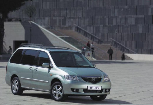 MAZDA MPV II van silver grey przedni prawy