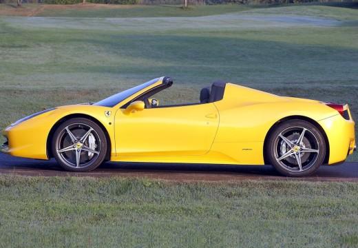 FERRARI 458 Spider kabriolet żółty boczny lewy