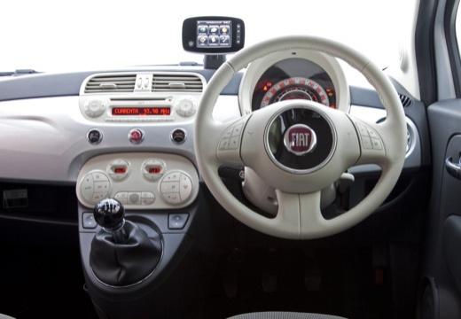 FIAT 500 C I kabriolet silver grey tablica rozdzielcza