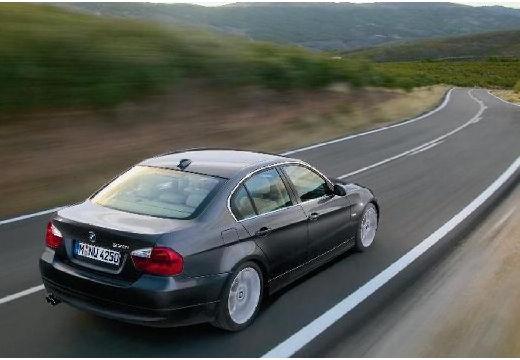 BMW Seria 3 E90 I sedan szary ciemny tylny prawy