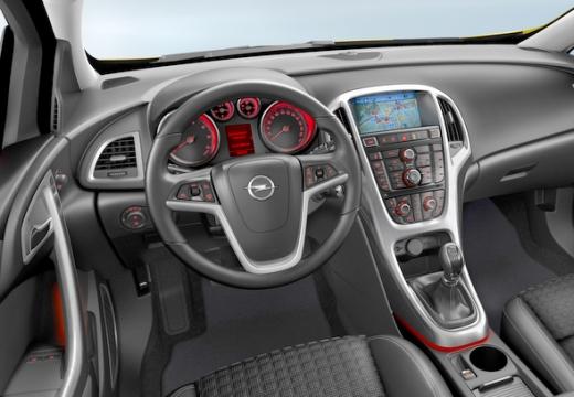 OPEL Astra IV GTC II hatchback żółty tablica rozdzielcza