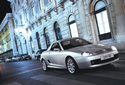 MG TF roadster silver grey przedni prawy