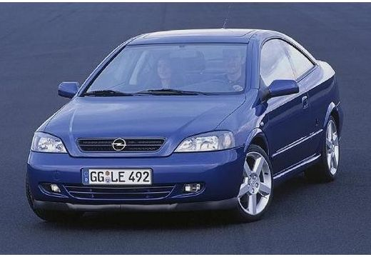 OPEL Astra coupe niebieski jasny przedni lewy