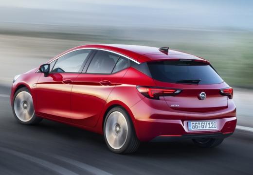OPEL Astra V I hatchback czerwony jasny tylny lewy
