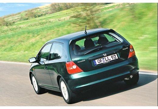HONDA Civic IV hatchback zielony tylny lewy