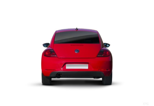 VOLKSWAGEN New Beetle Beetle I coupe czerwony jasny tylny