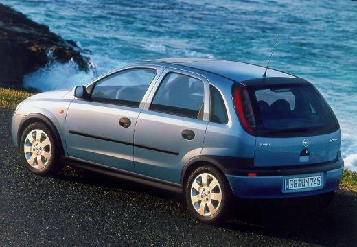 OPEL Corsa C I hatchback niebieski jasny tylny lewy