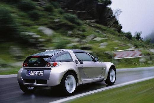 SMART roadster coupe silver grey tylny prawy