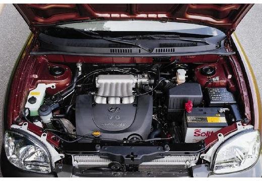 HYUNDAI Santa Fe I kombi bordeaux (czerwony ciemny) silnik