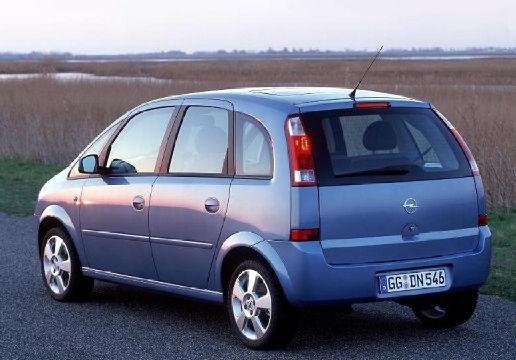 OPEL Meriva II hatchback niebieski jasny tylny lewy