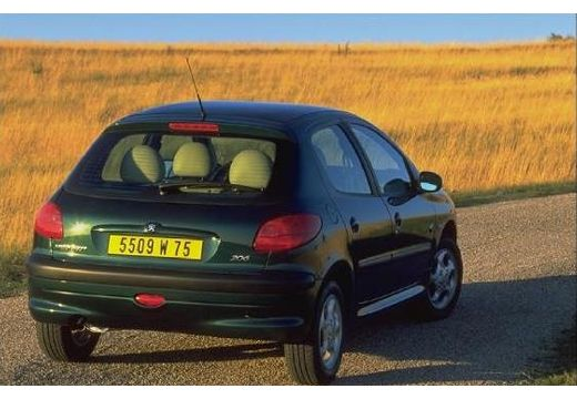 PEUGEOT 206 I hatchback zielony tylny prawy