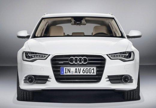 AUDI A6 kombi biały przedni