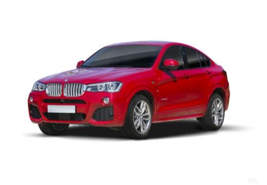 BMW X4 kombi czerwony jasny przedni lewy
