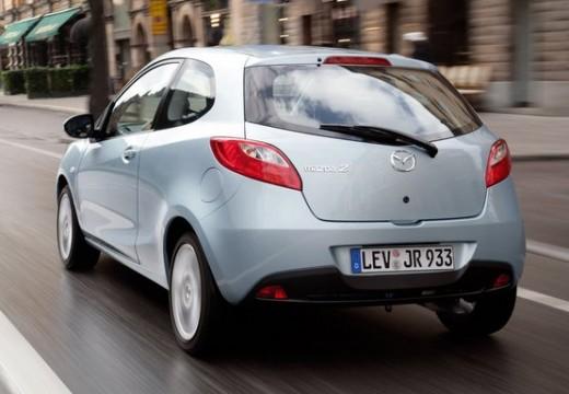 MAZDA 2 II hatchback niebieski jasny tylny lewy