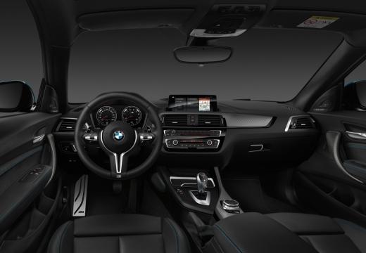 BMW Seria 2 F22 II coupe niebieski jasny tablica rozdzielcza