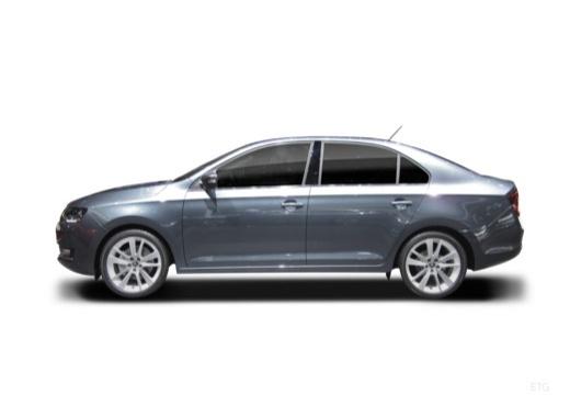 SKODA Rapid Liftback hatchback boczny lewy