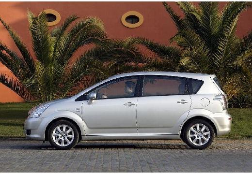 Toyota Corolla Verso II kombi mpv silver grey boczny lewy