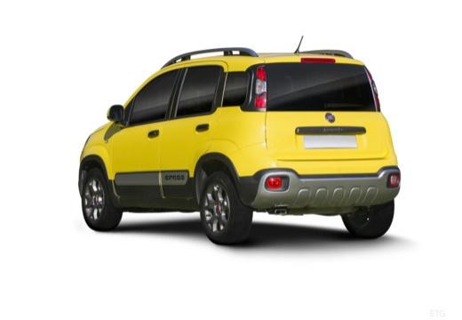 FIAT Panda III hatchback żółty tylny lewy