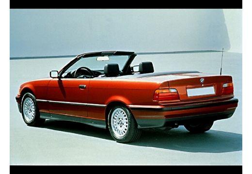 BMW Seria 3 kabriolet bordeaux (czerwony ciemny) tylny lewy