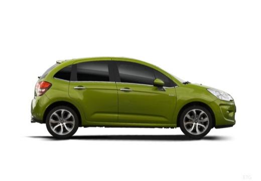 CITROEN C3 II I hatchback zielony boczny prawy