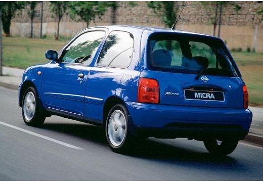 NISSAN Micra IV hatchback niebieski jasny tylny lewy