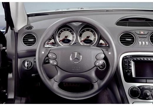 MERCEDES-BENZ Klasa SL SL 230 I roadster silver grey tablica rozdzielcza