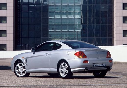 HYUNDAI Coupe coupe silver grey tylny lewy