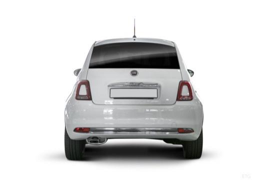 FIAT 500 hatchback biały tylny