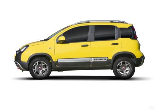 FIAT Panda III hatchback żółty boczny lewy