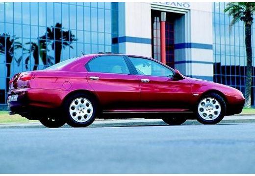 ALFA ROMEO 166 I sedan bordeaux (czerwony ciemny) boczny prawy