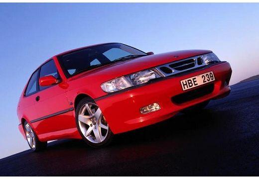 SAAB 9-3 I hatchback czerwony jasny przedni prawy