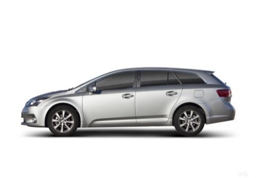 Toyota Avensis kombi silver grey boczny lewy