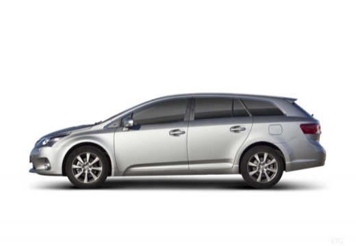 Toyota Avensis VI kombi silver grey boczny lewy