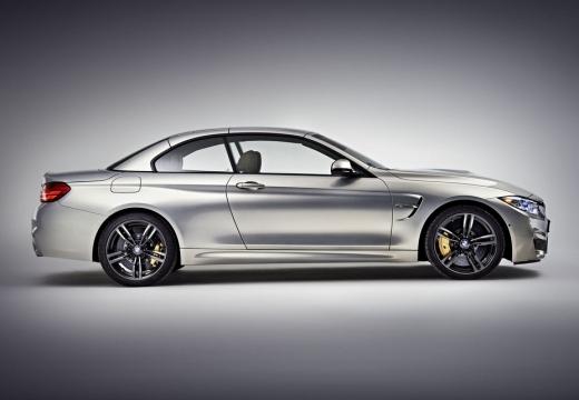 BMW Seria 4 Cabrio F33 kabriolet silver grey boczny prawy
