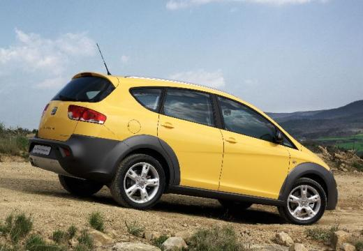 SEAT Altea hatchback żółty tylny prawy