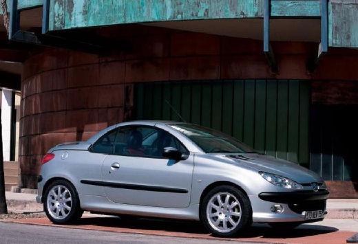 PEUGEOT 206 kabriolet silver grey przedni prawy