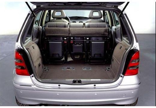 MERCEDES-BENZ Klasa A V 168 hatchback silver grey przestrzeń załadunkowa