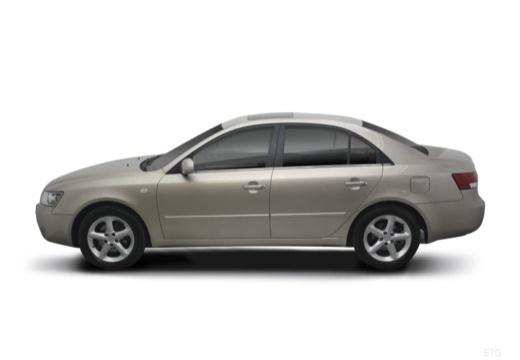 HYUNDAI Sonata VI sedan silver grey boczny lewy