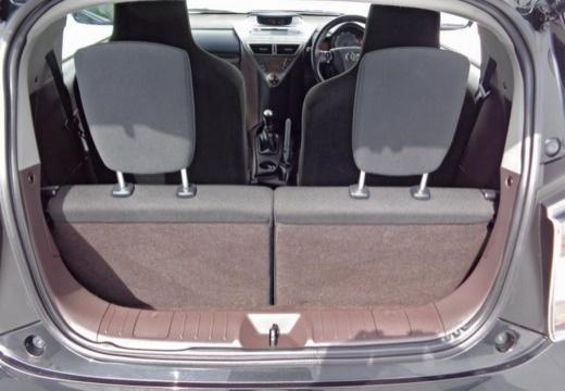 Toyota iQ I hatchback przestrzeń załadunkowa