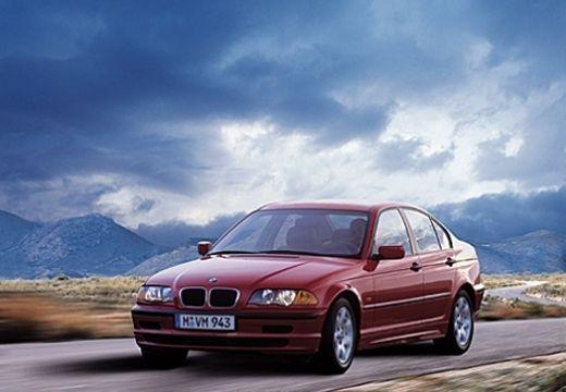 BMW Seria 3 sedan czerwony jasny przedni lewy