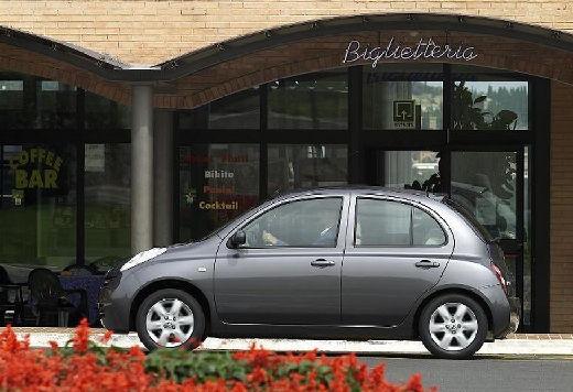 NISSAN Micra VI hatchback szary ciemny boczny lewy
