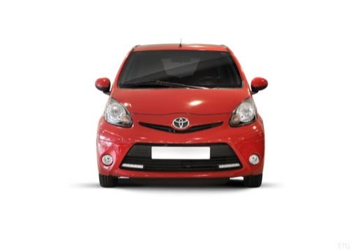 Toyota Aygo III hatchback czerwony jasny przedni