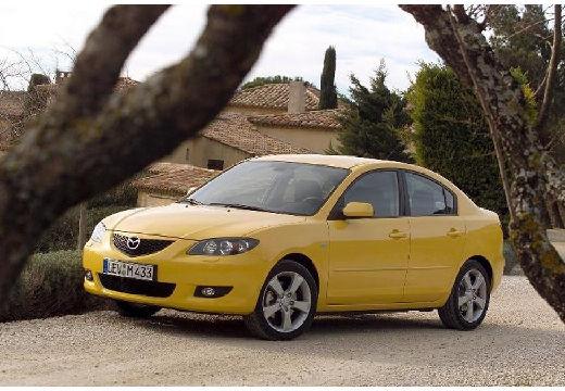 MAZDA 3 I sedan żółty przedni lewy