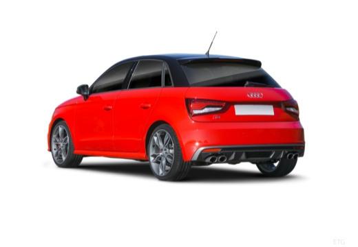 AUDI A1 Sportback I hatchback czerwony jasny tylny lewy