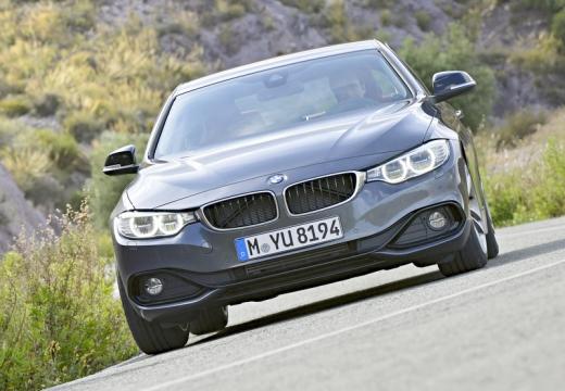 BMW Seria 4 F32 coupe silver grey przedni