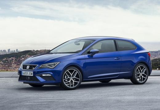 SEAT Leon hatchback niebieski jasny przedni lewy